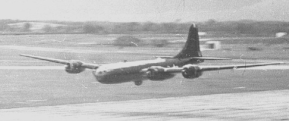 supplied by Peter Thompson B29 making a low pass over Tengah