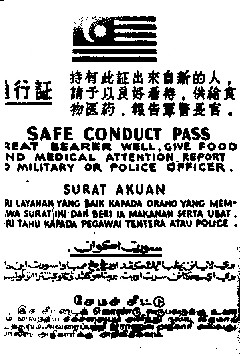supplied by Peter Thompson Pamphlet dropped to communists in Malaya